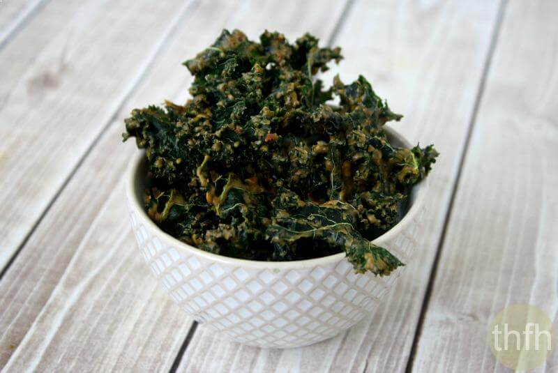 Kale Chips With Spicy Peanut Sauce Almost Raw Vegan Gluten Free Dairy Free No Refined Sugar
