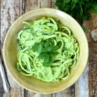 Zucchini Noodles with Spinach and Tomatillo Sauce | The Healthy Family and Home