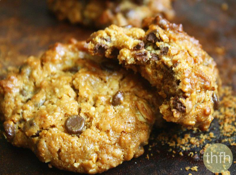 Gluten-Free Vegan Peanut Butter Chocolate Chip Oatmeal Cookies | The Healthy Family and Home