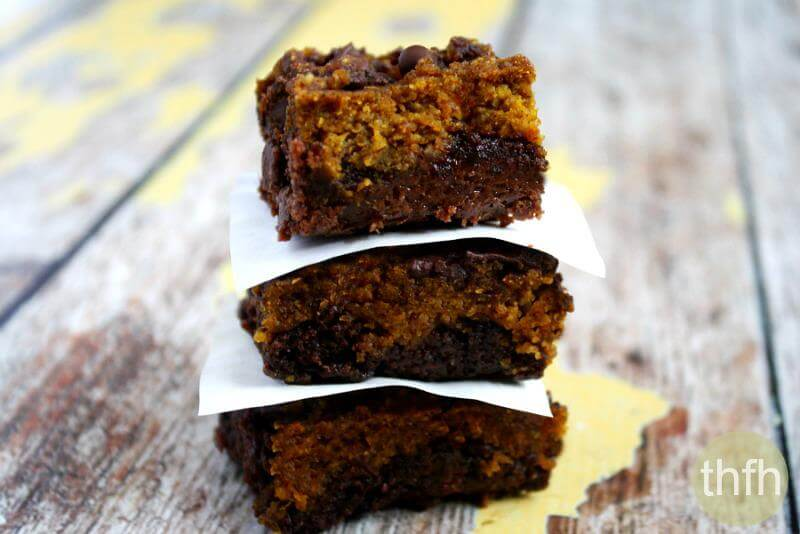 Fudgy Gluten-Free Vegan Pumpkin Swirl Brownies | The Healthy Family and Home