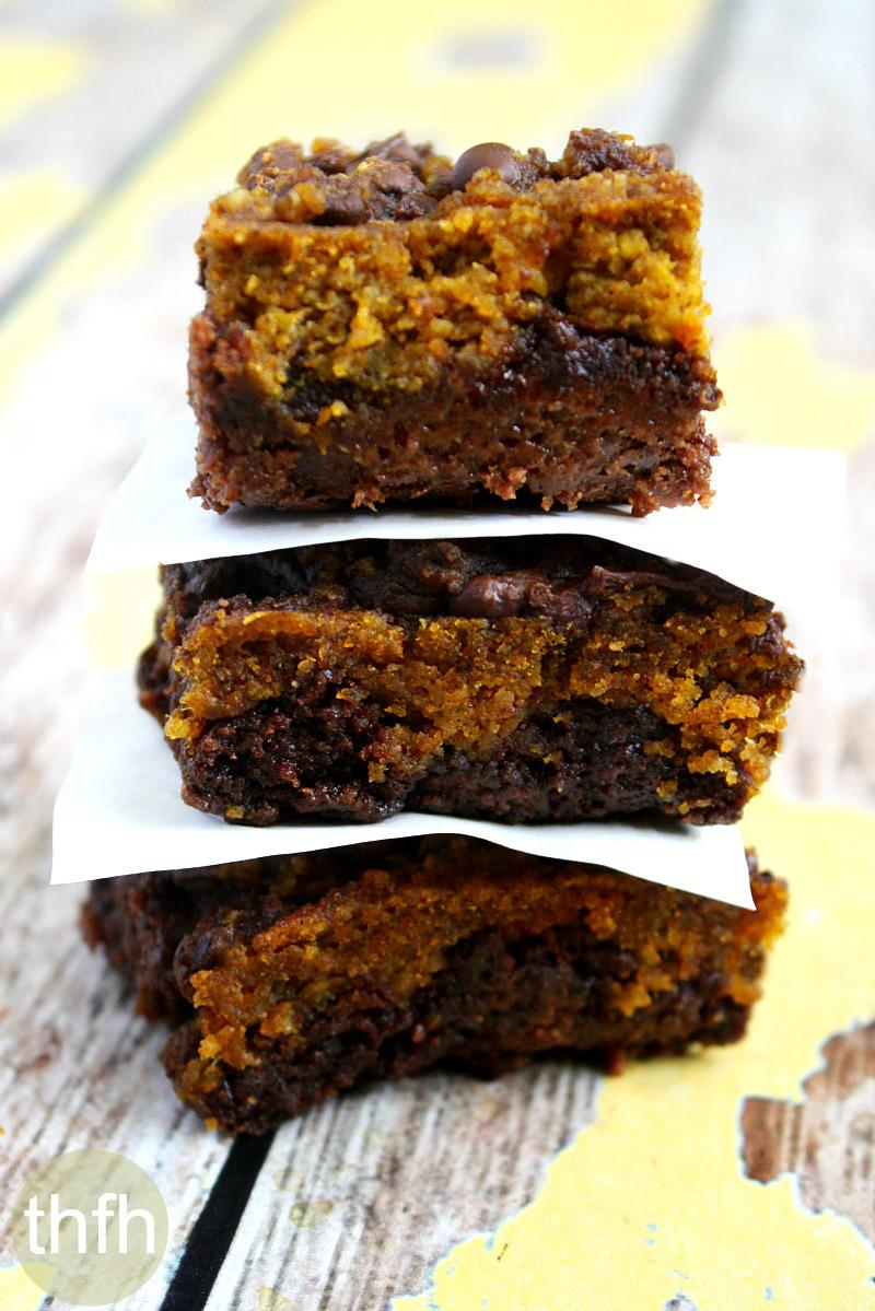 Fudgy Gluten-Free Vegan Pumpkin Swirl Brownies