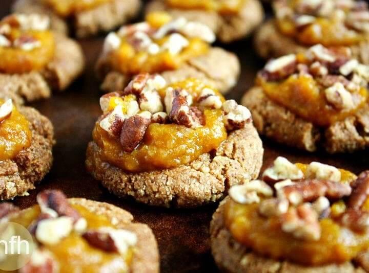 Gluten-Free Vegan Pumpkin Spice Thumbprint Cookies