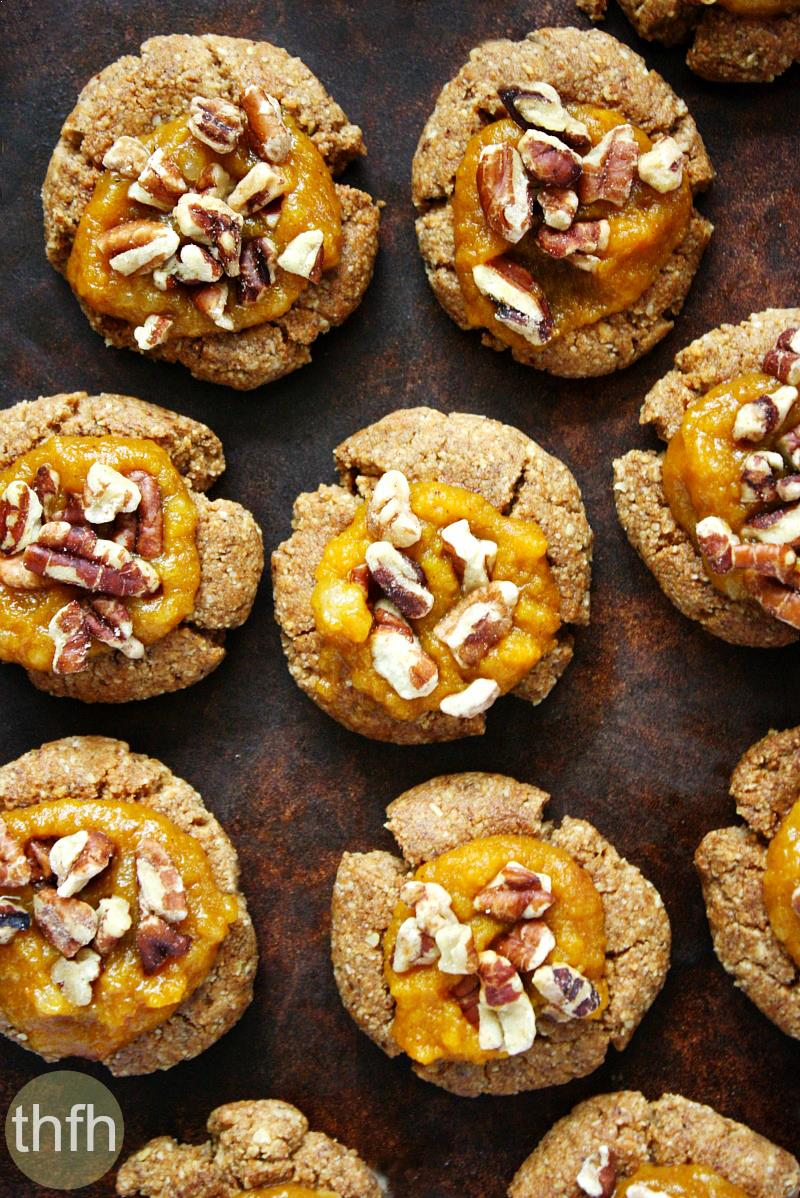 Gluten-Free Vegan Pumpkin Spice Thumbprint Cookies | The Healthy Family and Home