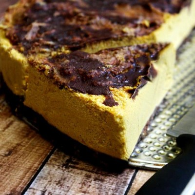 Vegan No-Bake Chocolate Marbled Pumpkin Cheesecake   The Healthy Family and Home