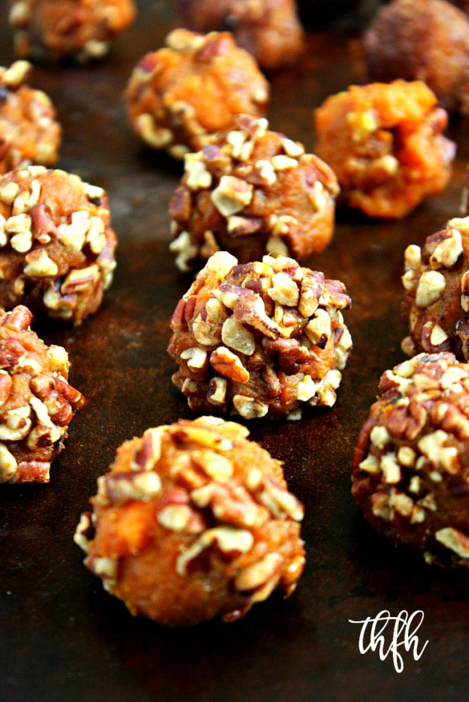 Clean Eating Vegan Sweet Potato and Pecan Balls