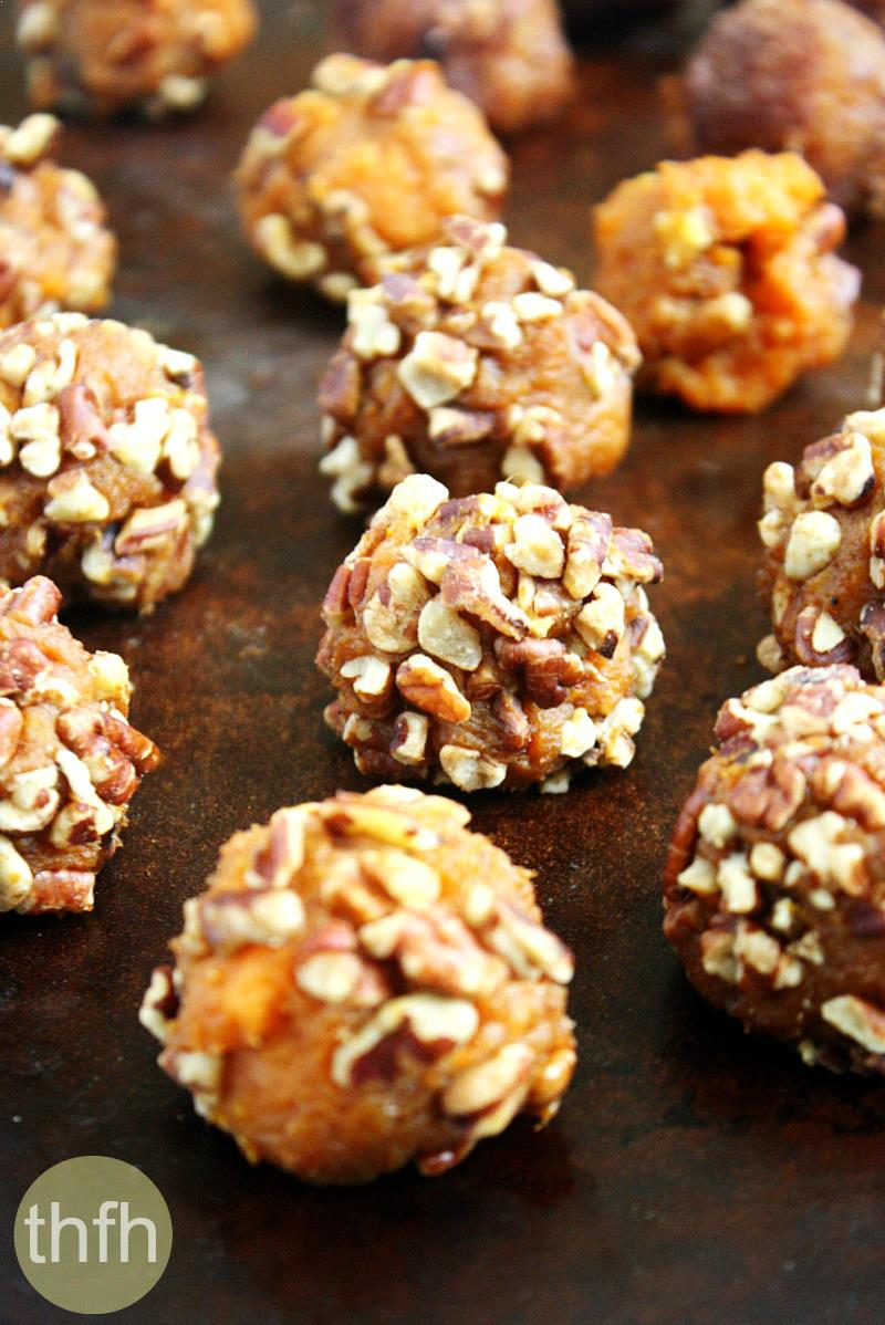 Clean Eating Vegan Sweet Potato Pecan Balls   The Healthy Family and Home