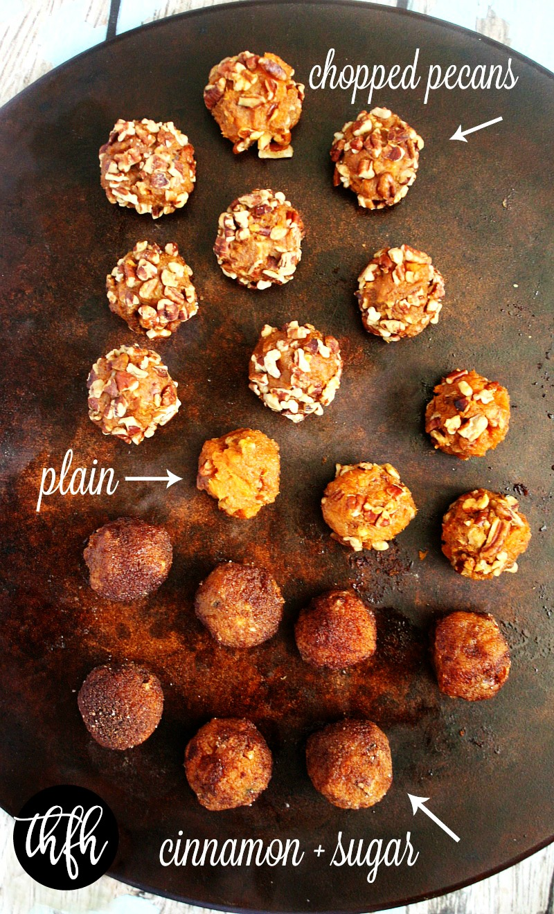 Clean Eating Vegan Sweet Potato and Pecan Balls | The Healthy Family and Home