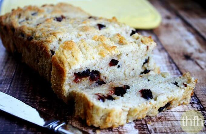 Gluten-Free Vegan Cranberry Orange Bread (Vegan, Gluten-Free, Dairy-Free, Egg-Free, Nut-Free, No Refined Sugar)