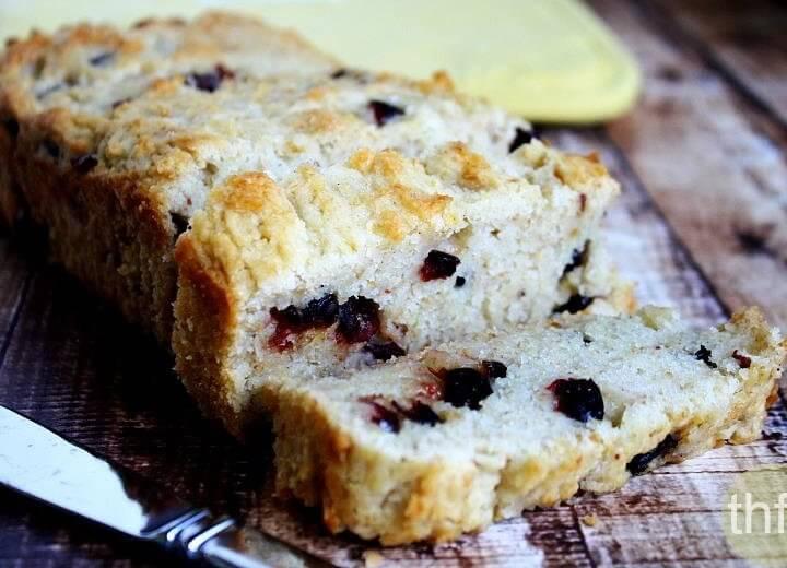 Gluten-Free Vegan Cranberry Orange Bread