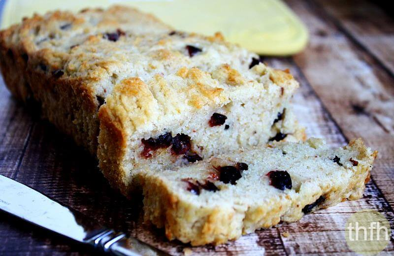 Gluten-Free Vegan Cranberry Orange Bread