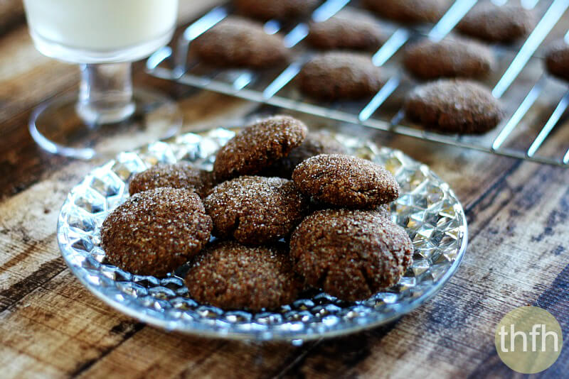 Clean Eating Gluten-Free Vegan Gingerbread Cookies | The Healthy Family and Home