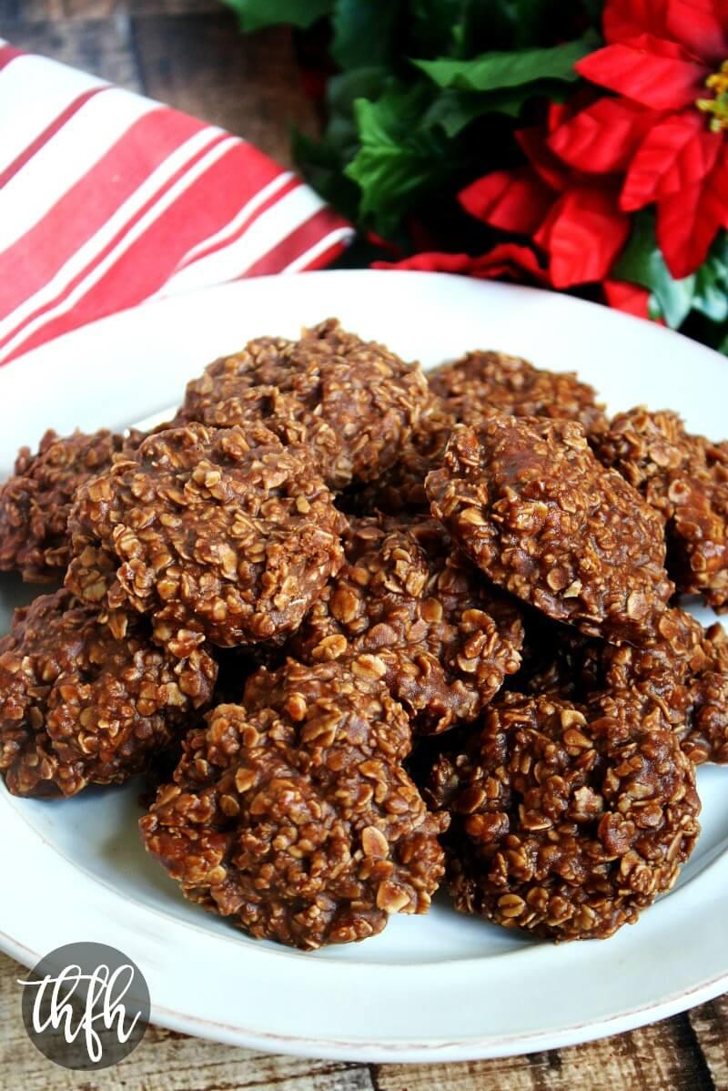 Gluten-Free Vegan Chocolate Peanut Butter Oatmeal No-Bake Cookies ...