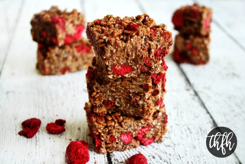Gluten-Free Vegan Chocolate Raspberry Crispy Treats | The Healthy Family and Home