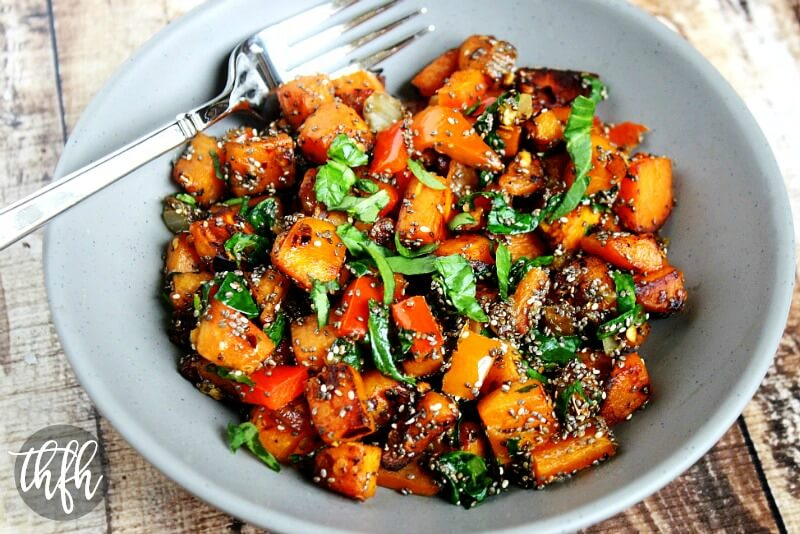 Spicy Red Pepper and Spinach Sweet Potato Hash Browns   The Healthy Family and Home