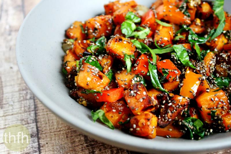Spicy Red Pepper and Spinach Sweet Potato Hash Browns | The Healthy ...