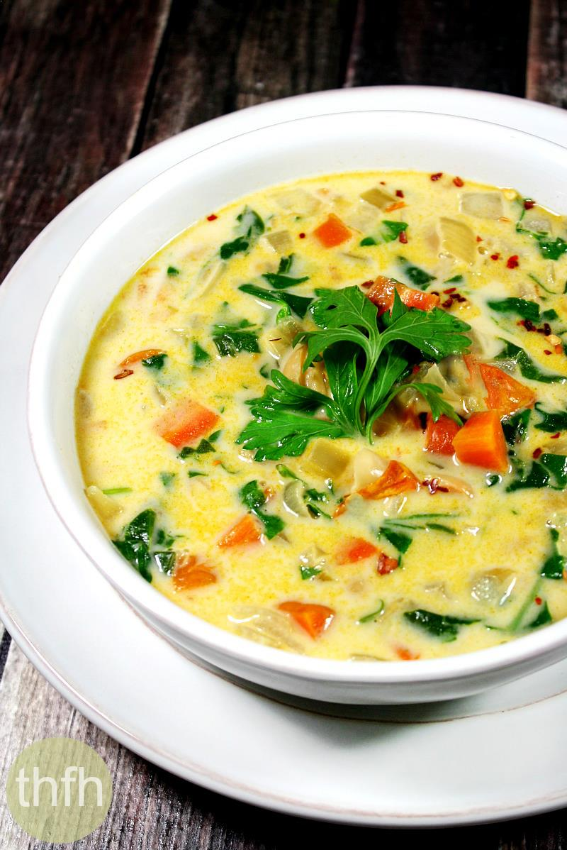 Creamy Vegan Vegetable Minestrone Soup | The Healthy Family and Home