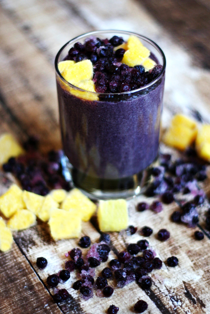 Wild Blueberry and Mango Protein Smoothie | The Healthy ...