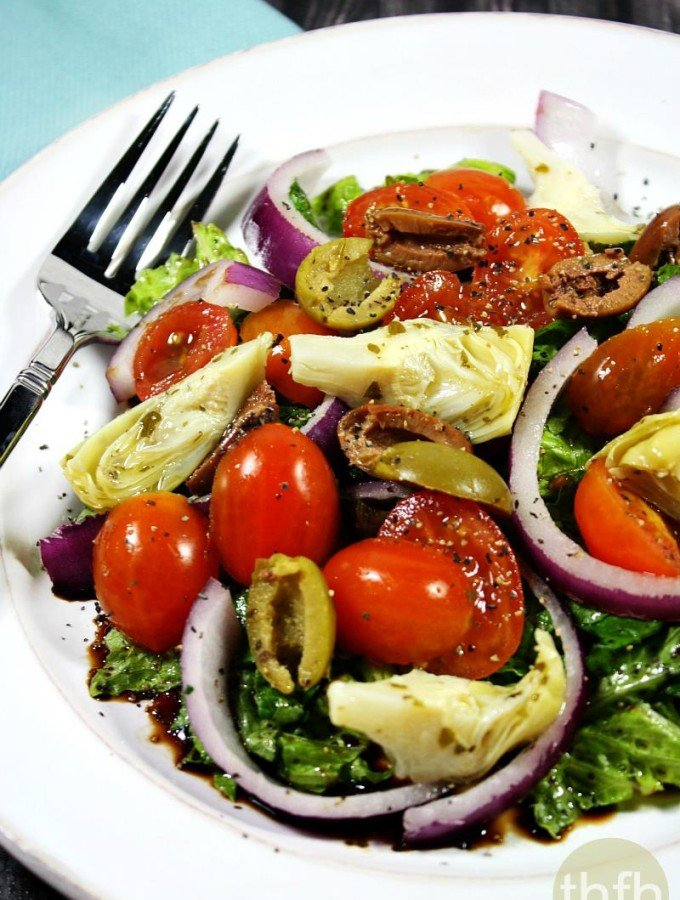 Clean Eating Vegan Greek Salad