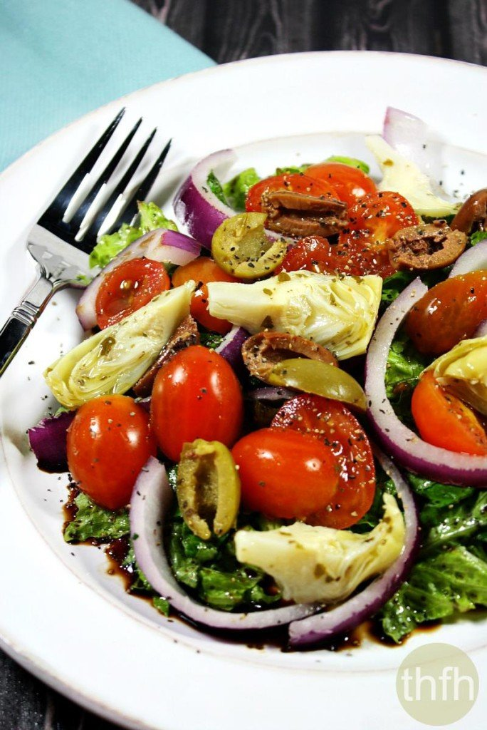 Clean Eating Vegan Greek Salad The Healthy Family And Home