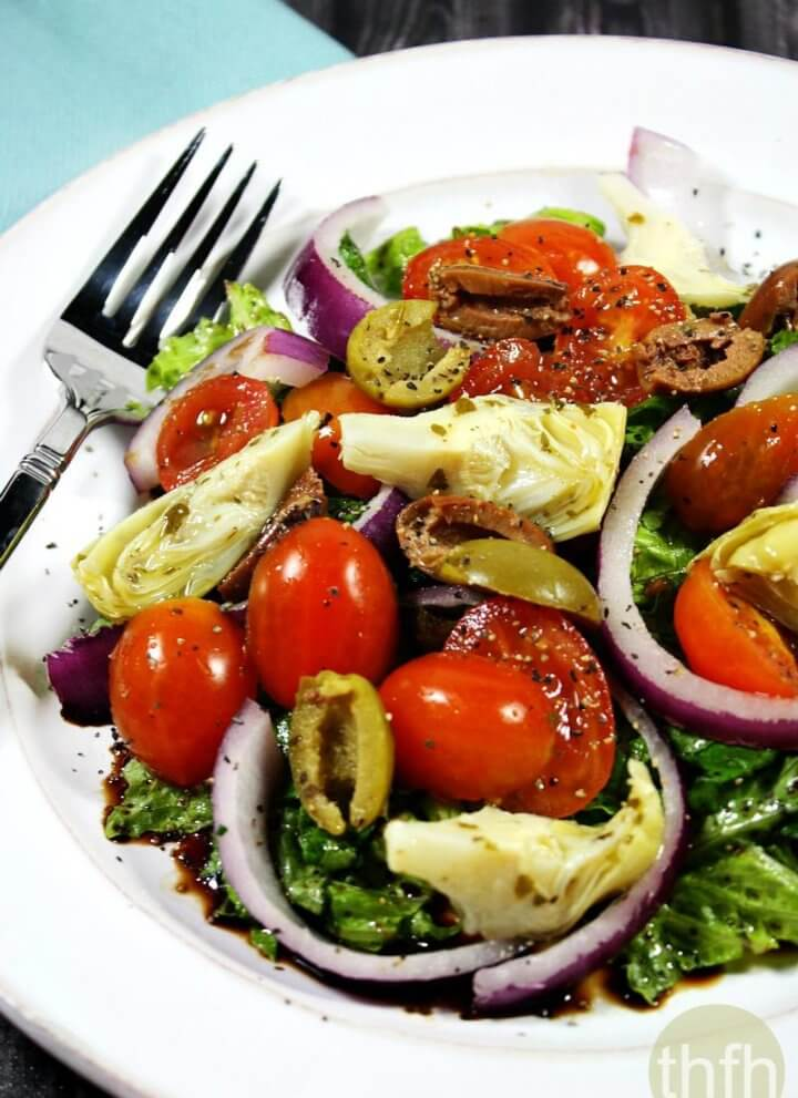 Clean Eating Vegan Greek Salad | The Healthy Family and Home