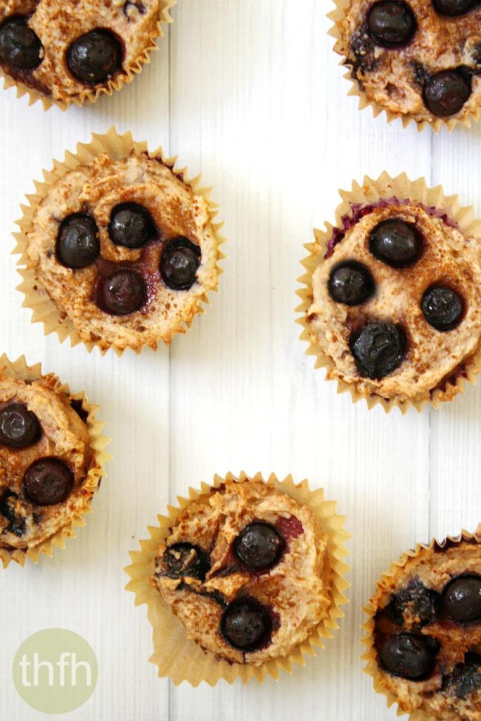 Vegan Lemon Blueberry Blender Muffins | The Healthy Family and Home