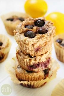 Vegan Lemon Blueberry Blender Muffins   The Healthy Family and Home