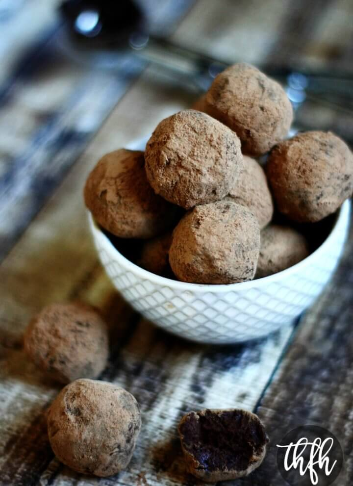 Vegan Chocolate Fudge Truffles