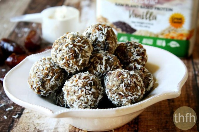 Raw Vegan Apricot and Date Protein Truffles (Raw, Vegan, Gluten-Free, Dairy-Free, Paleo-Friendly, No Refined Sugar)