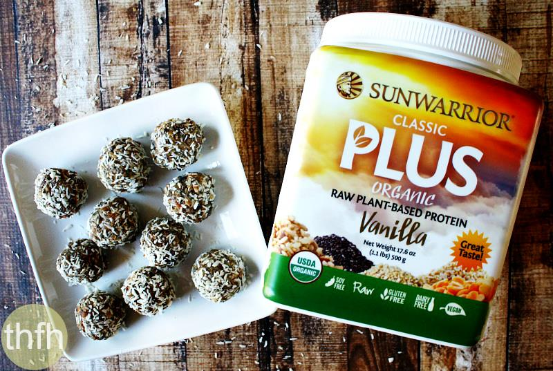 Raw Vegan Apricot and Date Protein Truffles with Sunwarrior Classic Plus | The Healthy Family and Home