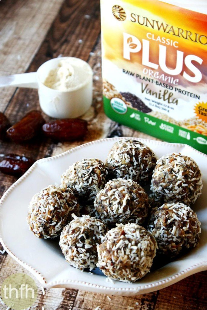 Raw Vegan Apricot and Date Protein Truffles with Sunwarrior Classic Plus + Giveaway