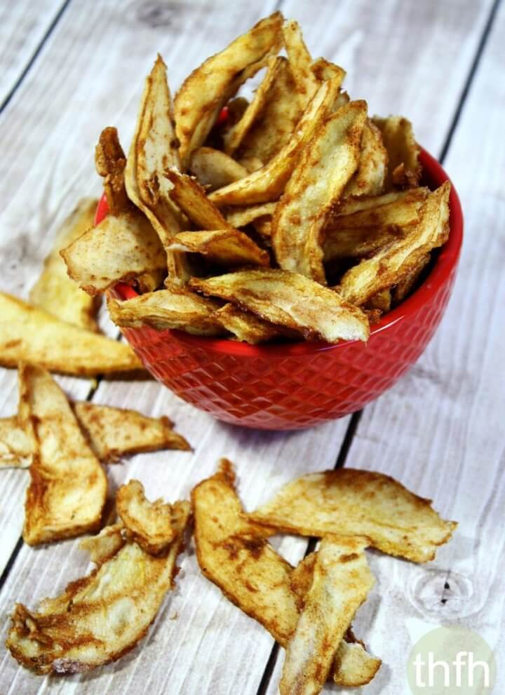 Raw Vegan Cinnamon Sugar Pear Chips