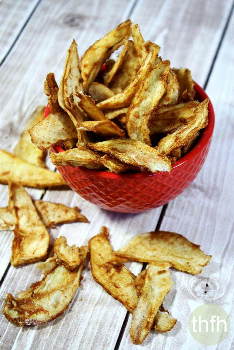 Raw Vegan Cinnamon Sugar Pear Chips
