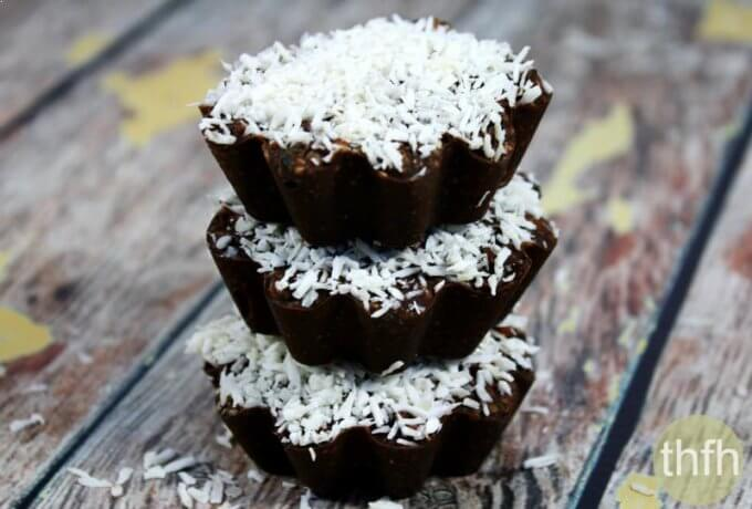 "Vegan Coconut and Mango Chocolate Cups (""Almost Raw"", Vegan, Gluten-Free, Dairy-Free, Paleo-Friendly, No Refined Sugar)"