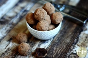 Vegan Chocolate Fudge Truffles (Raw, Vegan, Gluten-Free, Dairy-Free, Soy-Free, Paleo-Friendly, No Refined Sugar)