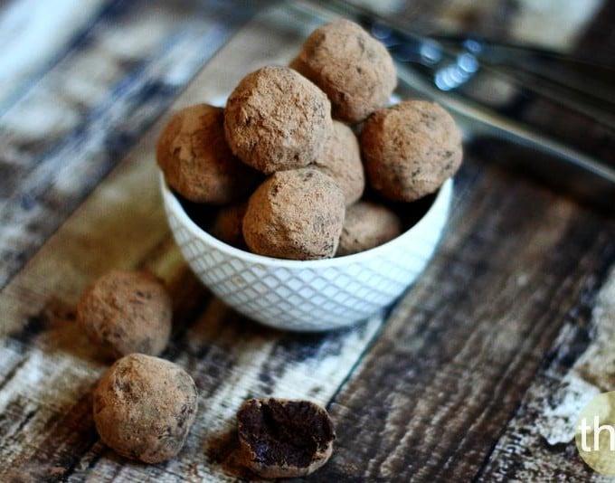 Vegan Chocolate Fudge Truffles