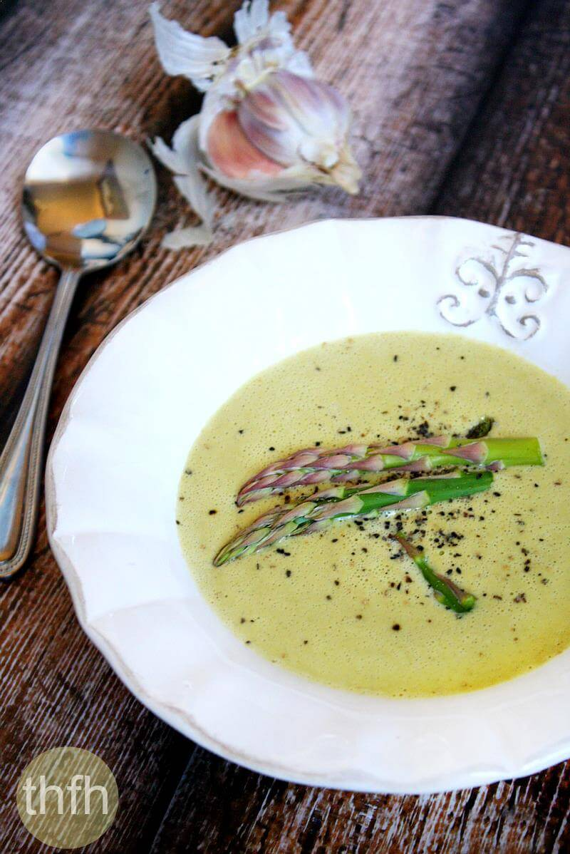 Vegan Cream of Asparagus Soup | The Healthy Family and Home