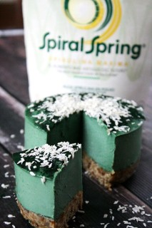 Raw Vegan Spirulina Cheesecake with Spiral Spring Spirulina Maxima   The Healthy Family and Home