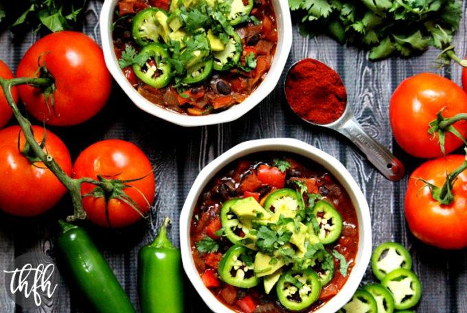 Vegan Smoked Paprika and Black Bean Chili (Vegan, Gluten-Free, Dairy-Free)