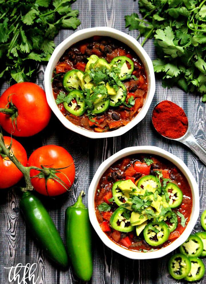 Vegan Smoked Paprika and Black Bean Chili
