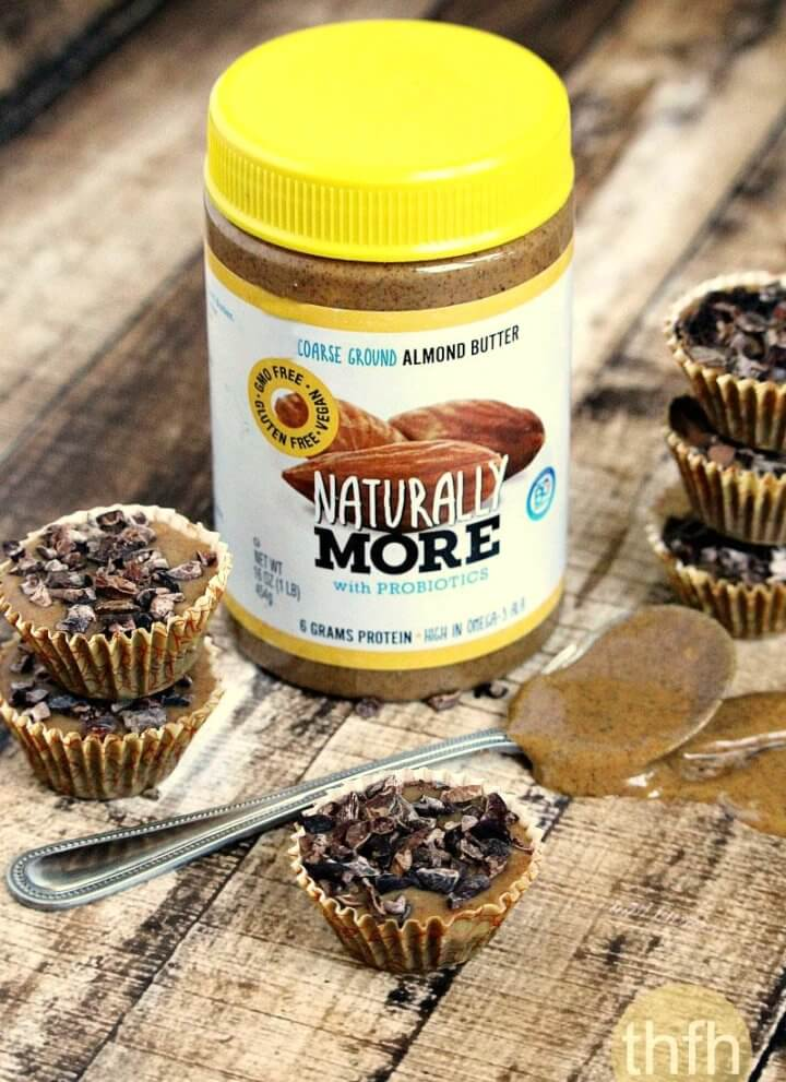 "Chocolate Almond Butter Cups with ""Naturally More"" Probiotic Almond Butter"