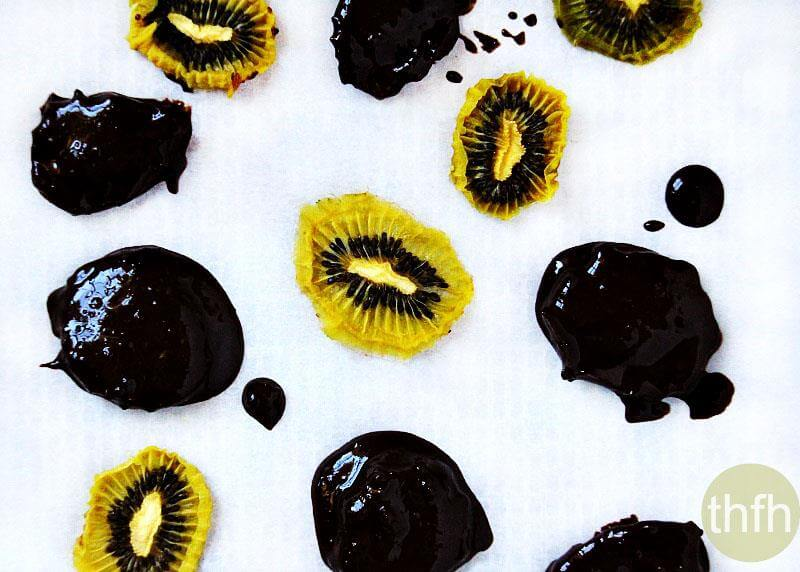 Chocolate Covered Dehydrated Kiwi | The Healthy Family and Home