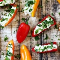 Stuffed Mini Peppers with Vegan Garlic Cashew Spread   The Healthy Family and Home