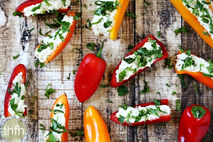 Stuffed Mini Peppers with Vegan Garlic Cashew Spread | The Healthy Family and Home