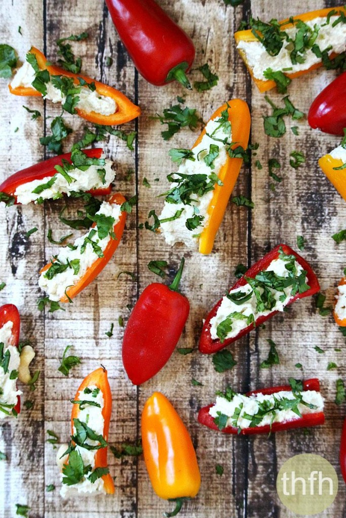 Stuffed Mini Peppers with Vegan Garlic Cashew Spread