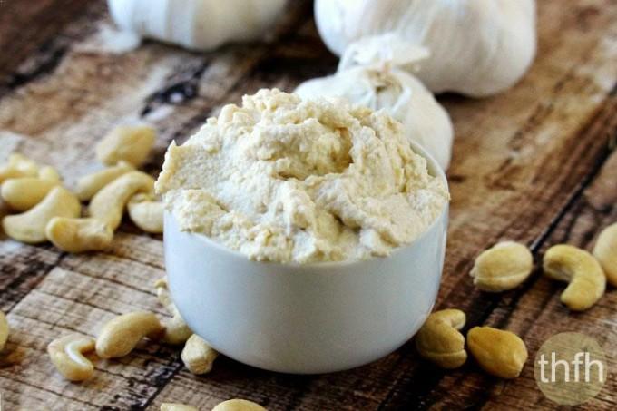 Vegan Garlic Cashew Spread (Raw, Vegan, Gluten-Free, Dairy-Free, Paleo-Friendly)