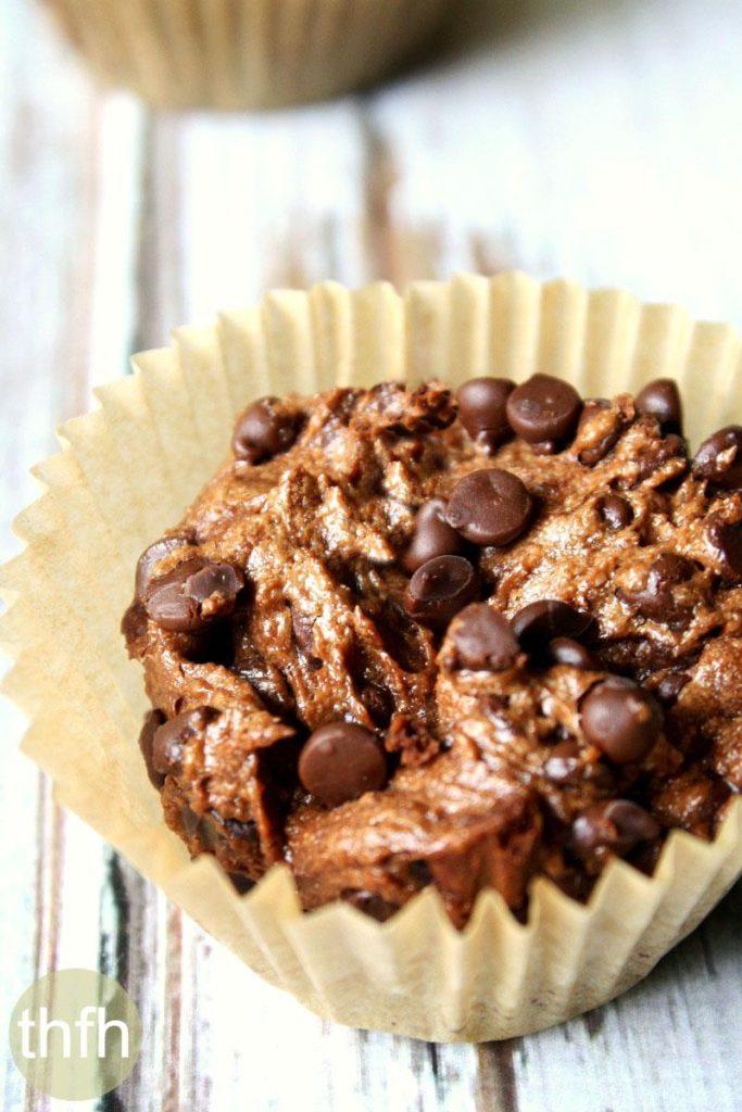 Flourless Vegan Chocolate Blender Muffins