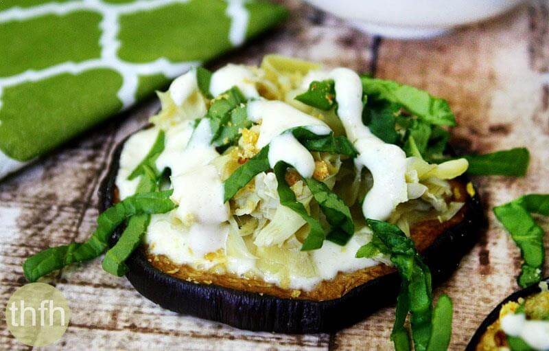 Roasted Eggplant with Artichoke and Creamy Garlic Sauce | The Healthy Family and Home