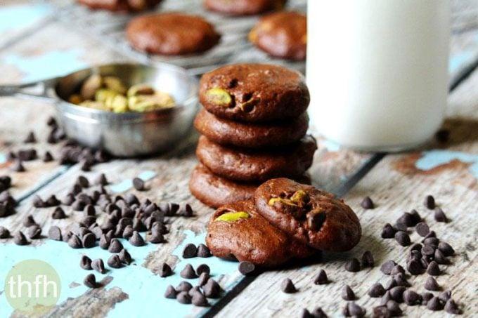 Flourless Vegan Chocolate Pistachio Cookies (Vegan, Gluten-Free, Dairy-Free, Egg-Free, Paleo-Friendly, No Refined Sugar)