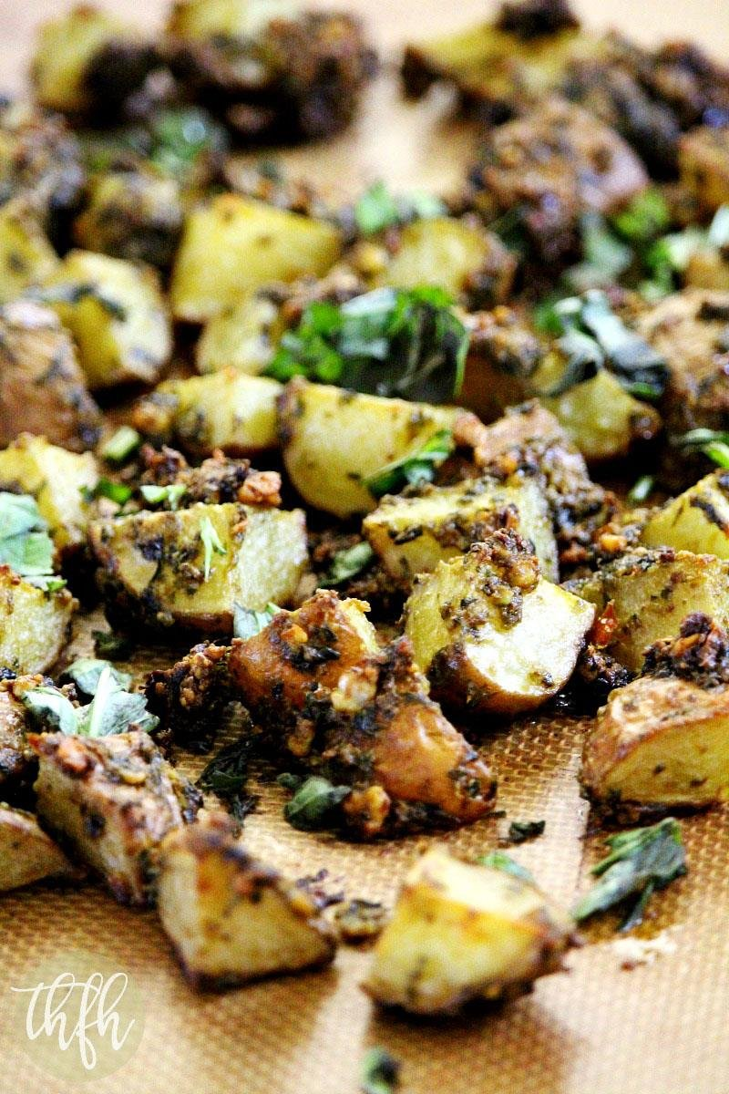Roasted Potatoes with Habanero and Basil Pesto | The Healthy Family and Home
