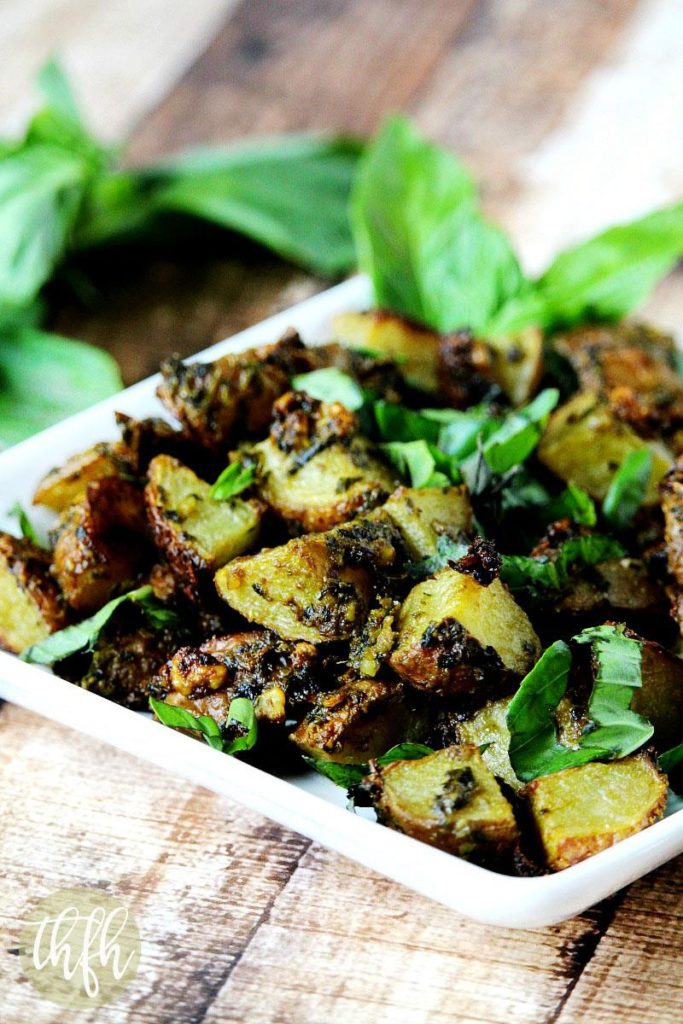 Roasted Potatoes with Habanero and Basil Pesto